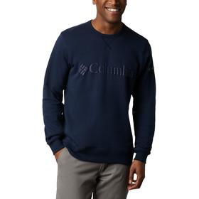 Columbia Logo Fleece Crew Sweater Heren, collegiate navy puff logo